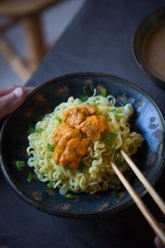 Sea Urchin Tsukemen Ramen (Dipping Noodle) soup