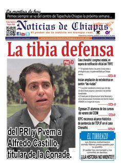 #hoyEnPortada La tibia defensa del PRI y Pvem a Alfredo Castillo, titular de la Conade. Información única e importante para tí sólo aquí. https://issuu.com/noticiasdechiapastapachula/docs/ndchi190816