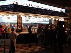 La Lucha, Lima Peru.   Chicken, Cheese and Pineapple Sandwich allllll dayy.
