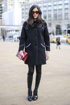 Flashback Friday: NYFW Street Style Stars Trekked Through the Snow For Fashion