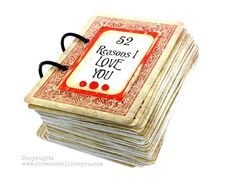 """What a fun idea for #Valentine's Day! Build your own """"52 Reasons I Love You"""" deck of cards. A very cool DIY idea from @PaperVinenz"""