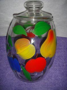 Gay Fad Cookie Jar | Cookie Jar Gay Fad Fruit Motif bartlett by WishingWellsGlass