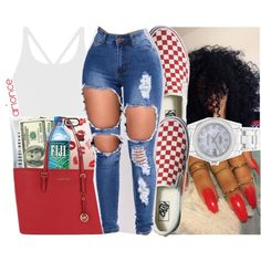 A fashion look from December 2017 by arionce featuring MICHAEL Michael Kors, Rolex, Casetify, Vans and Bobbi Brown Cosmetics