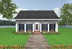 House Plan 1776-00005 - Cottage Plan: 1,097 Square Feet, 2 Bedrooms, 1 Bathroom