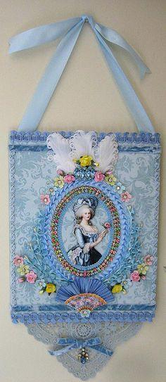 Marie Antoinette Wall Hanging by Terri Gordon