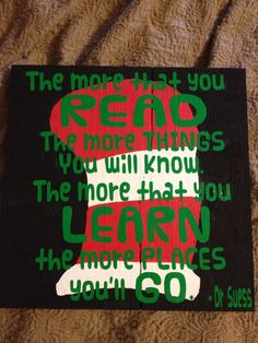 Dr. Seuss Sign School or Nursery - made to order. $20.00, via Etsy.