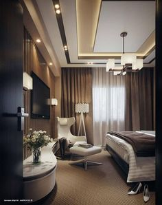 Basement with low ceiling Wooden Ceiling Design, House Ceiling Design, Ceiling Design Living Room, Bedroom False Ceiling Design, Hotel Room Design, Master Bedroom Interior, Bedroom Bed Design, Bedroom Ceiling, Home Interior