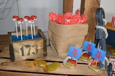 Pirate birthday party treats! See more party planning ideas at CatchMyParty.com!