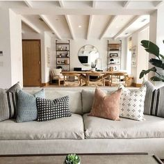 We added pillow combos to the shop to make your life easier! Check them out and let us know what you think. Living Room Update, Small Living Rooms, Formal Living Rooms, Home And Living, Living Spaces, Living Area, Decor Interior Design, Diy Interior, Vintage Pillows