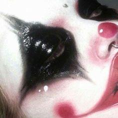 we're disposable teens Edgy Makeup, Clown Makeup, Makeup Inspo, Halloween Makeup, Makeup Inspiration, Hair Makeup, Piskel Art, Aesthetic Makeup, American Horror Story