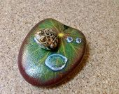 Frog and Lily Pad Painted Rocks