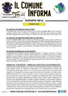 Il Comune Informa - Agosto 2016