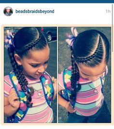 Simple hair style for little girl #naturalhairkid