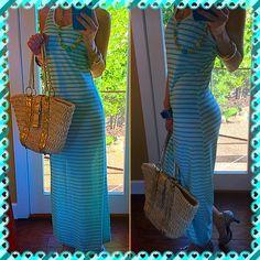 Beach This is the perfect swim dress cover!, it's see through so doesn't really work for anything else!. I realized that after I bought it, so definite fun beach dress walking the pier!. Love the simplicity and colors. Great condition, mint/cream;). Bella Vita Dresses Maxi