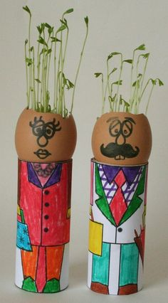 toilet paper and egg planters