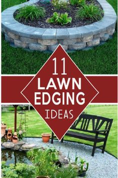 Check out these Beautiful deging ideas for flower beds, pathways and yard edges!