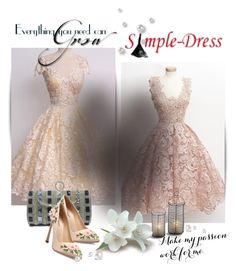 """""""Simple-Dress 1/11"""" by melodibrown ❤ liked on Polyvore featuring Giambattista Valli and vintage"""