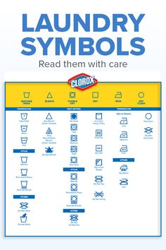 Check out the Clorox guide to de-coding those cryptic label icons.Read those labels with care! Check out the Clorox guide to de-coding those cryptic label icons. Diy Cleaning Products, Cleaning Solutions, Cleaning Hacks, Grill Cleaning, Cleaning Checklist, Cleaning Supplies, Laundry Symbols, Laundry Hacks, Laundry Labels