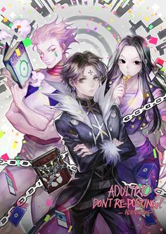 Hisoka, Chrollo and Illumi - Hunter x Hunter