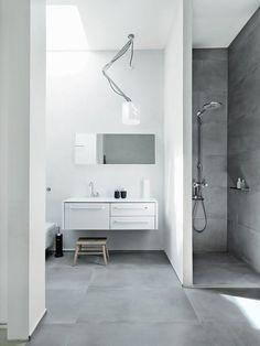 5 Bathroom Designs In Black, White & Grey