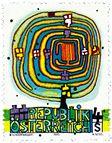 Stamp design by Hundertwasser