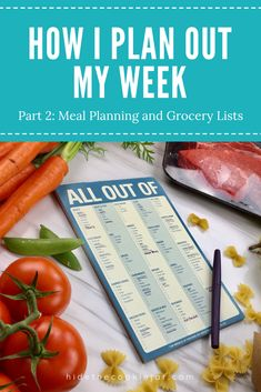 How I Meal Plan for a Week and make an awesome grocery list that saves you money! Save Your Money, Grocery Lists, Cookie Jars, Food Preparation, Food Hacks, Meal Planning, Pregnancy, Parenting, Meals