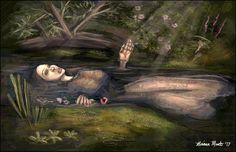 """""""Ophelia"""" 11""""x17"""" speedpaint and study done in Photoshop CS5."""