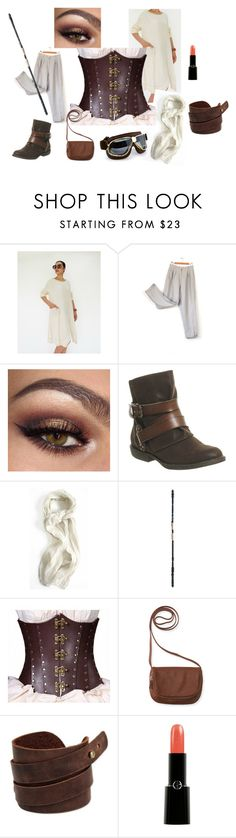 """""""Rey Halloween Costume"""" by timeless-trends on Polyvore featuring Blowfish, Aéropostale, NOVICA, Giorgio Armani, Halloween, costumeideas and timelesstrends"""