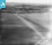 Dundee, general view, showing Tay Road Bridge. Oblique aerial photograph taken ...