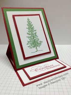 Lovely as a Tree, More Merry Messages, Stampin' Up!, easel card