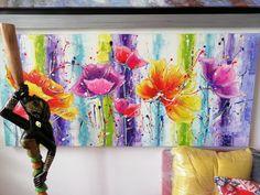Flores para regalar Painting, Modern Paintings, Artworks, Flowers, Idea Paint, Art Production, Painting Art, Paintings, Painted Canvas