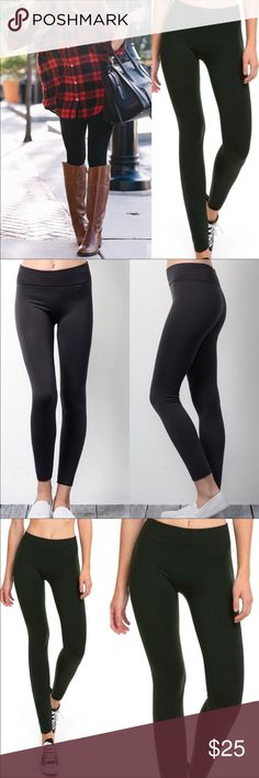 The Best Black Fleece Lined Leggings These are the most comfortable leggings I've ever worn! Size 2-12 (one size fits most). Nylon, polyester, spandex. Super soft and comfortable. Almost feel like silk. Perfect for a day on the town or for lounging around the house. Color is black. Bundle and save! Pants Leggings
