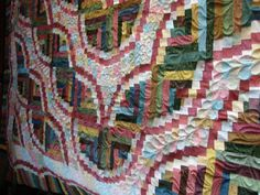 Snake River Log Cabin by Teresa...Quilted by Charisma