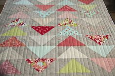 Straight line quilting tutorial...can use painters tape to create a straight line!