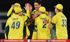 Australian cricket board announced team for twenty series against Indian cricket team, hosts also won the five one day international match series against India by winning first three games.
