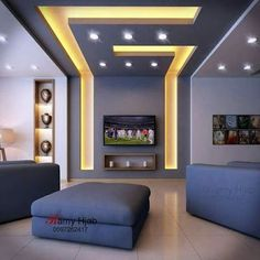 Stylish Modern Ceiling Design Ideas _ Engineering Basic Source by enginebasic Gypsum Ceiling Design, House Ceiling Design, Ceiling Design Living Room, Bedroom False Ceiling Design, Ceiling Light Design, Home Room Design, Living Room Designs, Lighting Design, Modern Ceiling Design
