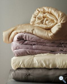 Would LOVE this!!!  My grandma had a gold silk comforter that she let me sleep with every time I spent the night.
