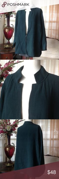 Plus size eileen fisher open green cardigan In excellent condition. No defects found. Made of 82% rayon, 18% silk. Machine wash cold.           .                   e Eileen Fisher Sweaters Cardigans