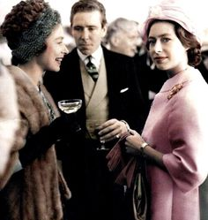 (Queen Elizabeth II) with Princess Margaret and her husband Anthony Armstrong Jones