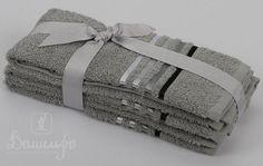 Набор полотенец BALE серый 30х50 (3шт) от Karna (Турция) - купить по низкой цене в интернет магазине Домильфо