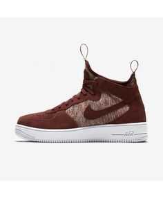 Nike Air Force 1 UltraForce Mid Premium 921126-600 Nike Air Max Trainers, Mens Trainers, Ankle Sneakers, Sneakers Nike, Sneaker Games, Nike Af1, Camping Gifts, Mens Nike Air, Sports Shoes