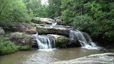 Waterfalls and Cascades at Chau Ram State Park, Westminster, Oconee County, SC