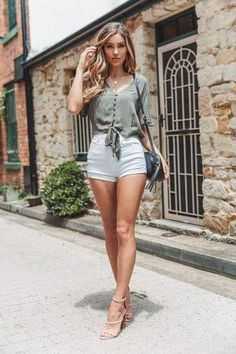Fashion V neck Short sleeve Lacing Blouses - Cute Summer Outfits