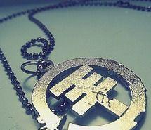 want. tokio hotel metal cutout pendant necklace <3