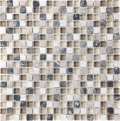 Anatolia Tile Java Uniform Squares Mosaic Stone and Glass Wall Tile (Common: 12-in x 12-in; Actual: 11.88-in x 11.88-in)  Item # 269569 Model # 20-594
