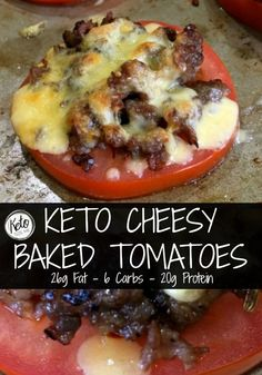 Looking for a quick and easy keto recipe? Try our Keto Cheesy Baked Tomatoes today they are so easy to make and taste delicious! #FreshWorksFreshness #ad