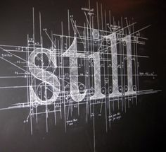 (A Map of You) from the Sentences series by Liz Collini, Transport Museum, Bury, 2011 / #chalk