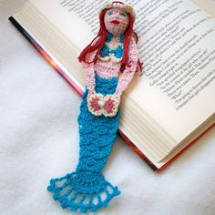 crochet mermaid bookmark by AndersonsCreations on Etsy, $15.50