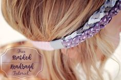 Free braided headband tutorial