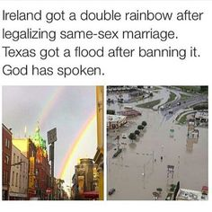 Wow.<<Either that or it's Zeus supporting Nico's gayness << Hades told Zeus to creat the double rainbow and told Poseidon to creat the flood for Nico.<<<<for the comments.